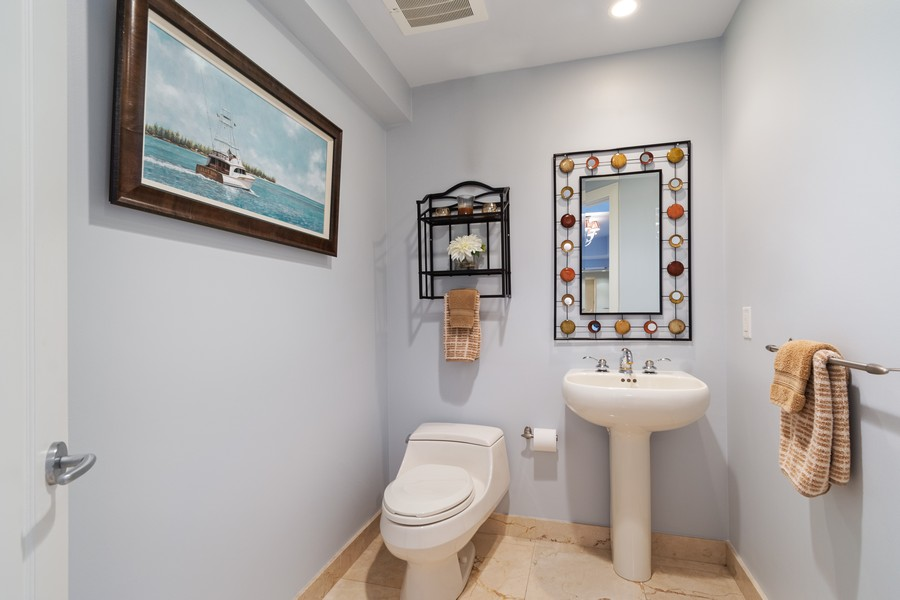 Real Estate Photography - 2845 NE 9th St., Unit 601, Fort Lauderdale, FL, 33304 - Half Bath