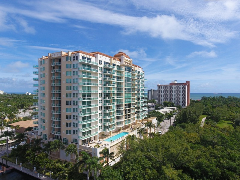 Real Estate Photography - 2845 NE 9th St., Unit 601, Fort Lauderdale, FL, 33304 - Le Club Aerial View