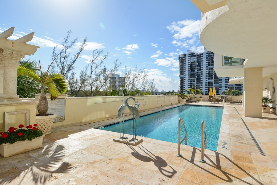 Real Estate Photography - 2845 NE 9th St., Unit 601, Fort Lauderdale, FL, 33304 - Pool