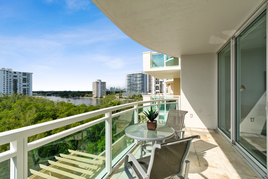 Real Estate Photography - 2845 NE 9th St., Unit 601, Fort Lauderdale, FL, 33304 - Balcony