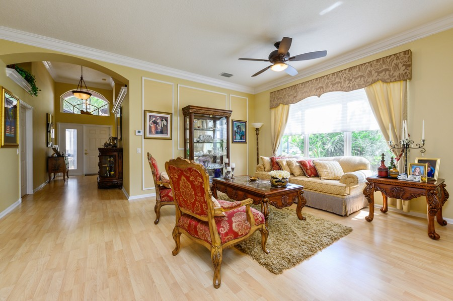 Real Estate Photography - 7581 Lake Harbor Terrace, Lake Worth, FL, 33467 - Foyer/Living Room
