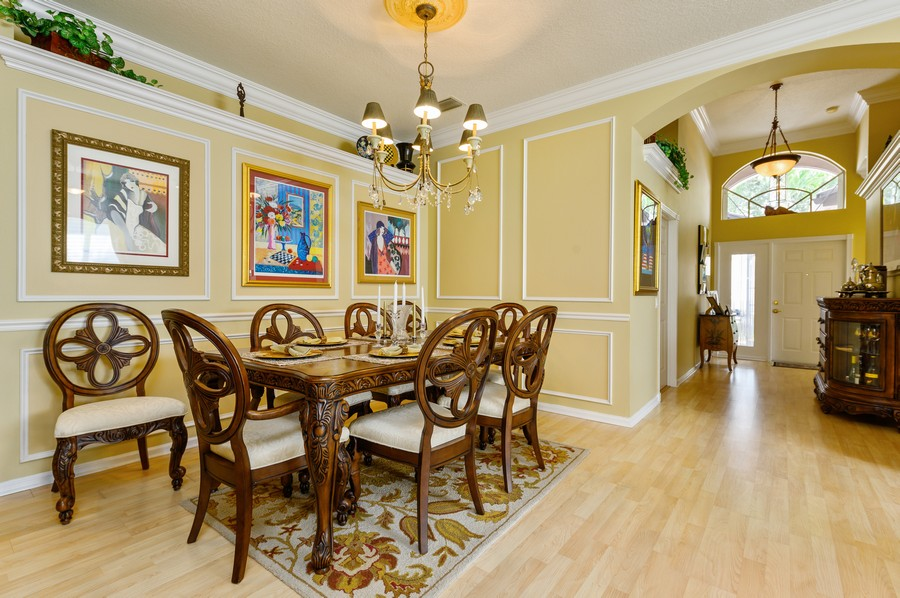 Real Estate Photography - 7581 Lake Harbor Terrace, Lake Worth, FL, 33467 - Foyer/Dining Room