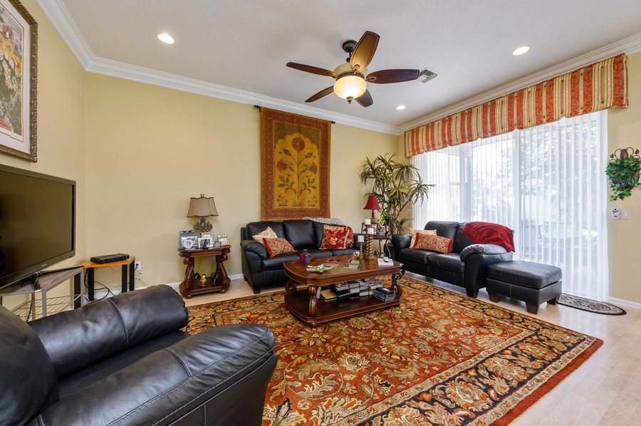 Real Estate Photography - 7581 Lake Harbor Terrace, Lake Worth, FL, 33467 - Family Room