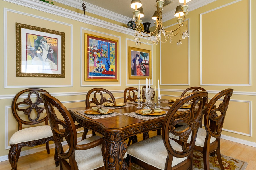 Real Estate Photography - 7581 Lake Harbor Terrace, Lake Worth, FL, 33467 - Dining Room