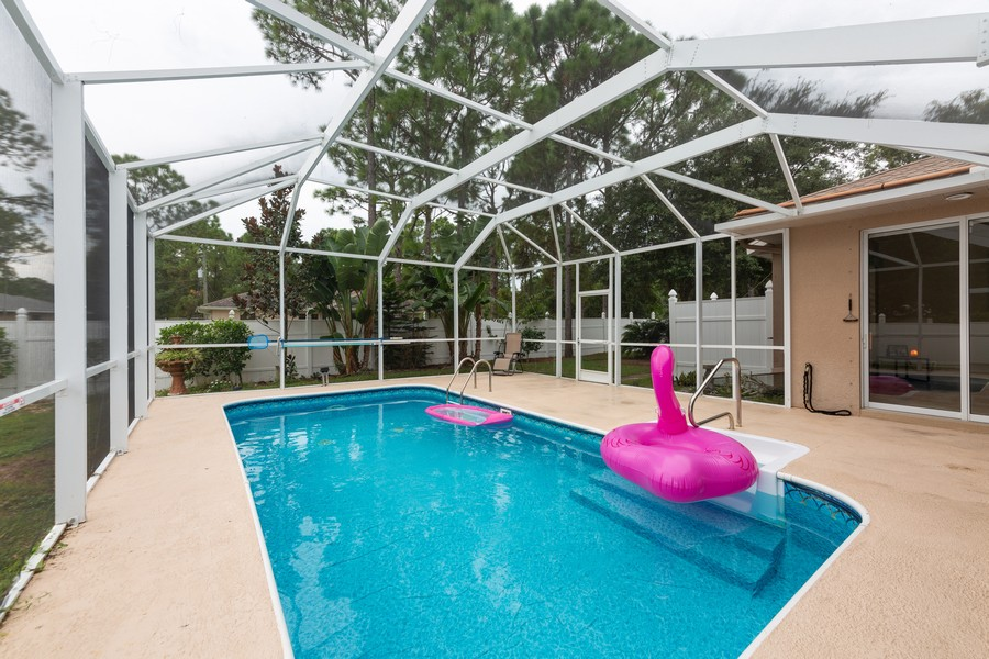 Real Estate Photography - 3475 Lotus Rd, North Port, FL, 34291 - Pool