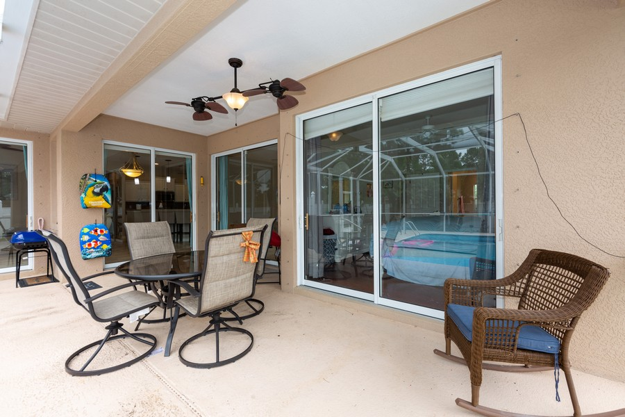 Real Estate Photography - 3475 Lotus Rd, North Port, FL, 34291 - Patio