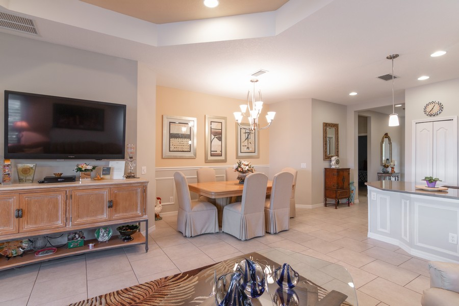 Real Estate Photography - 1963 Crystal Lake Trail, Bradenton, FL, 34211 - Living Room / Dining Room
