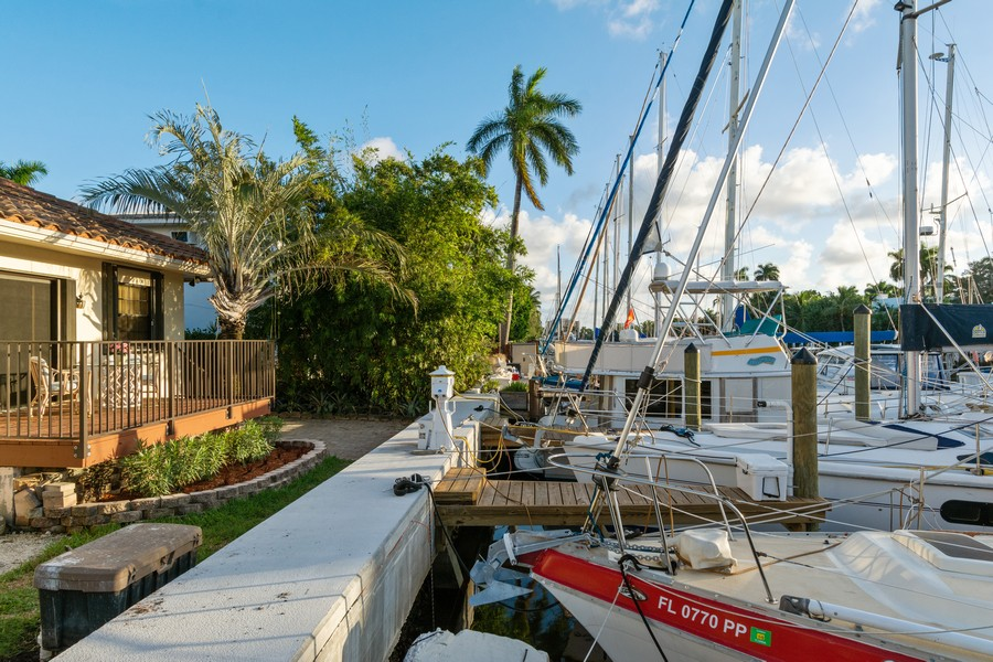 Real Estate Photography - 133 Hendricks Isle, Fort Lauderdale, FL, 33301 - Dock