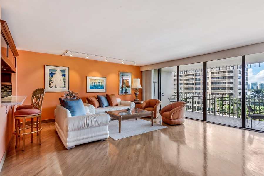 Real Estate Photography - 3 Grove Isle Dr. #C506, Miami, FL, 33133 - Living Room