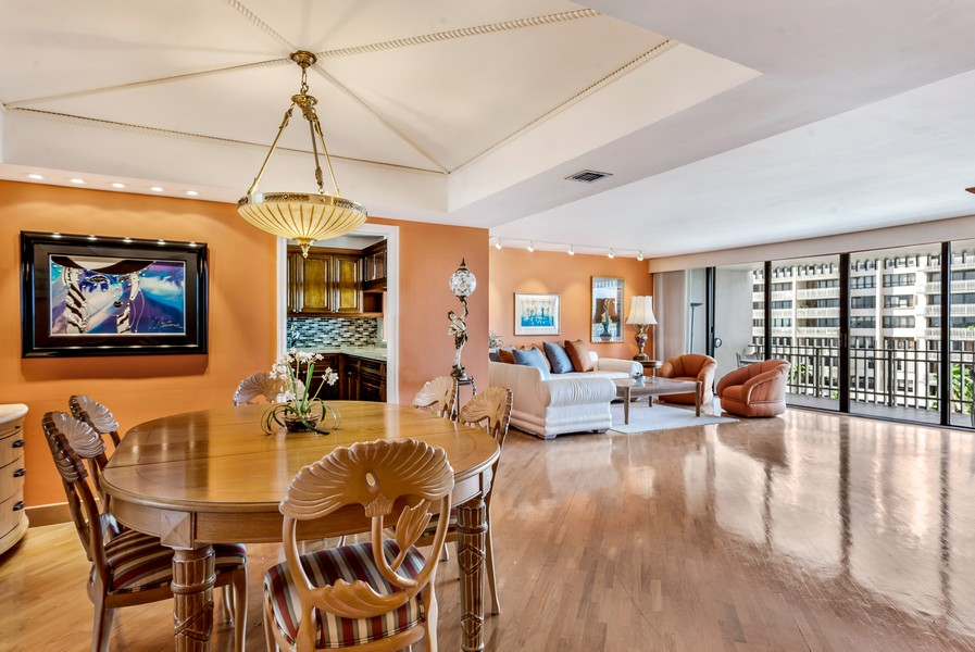 Real Estate Photography - 3 Grove Isle Dr. #C506, Miami, FL, 33133 - Dining Room