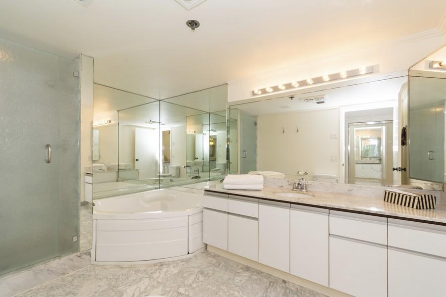 Real Estate Photography - 1401 S Ocean Blvd, #403, Boca Raton, FL, 33432 - Master Bathroom