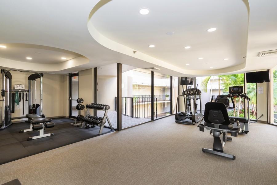 Real Estate Photography - 1401 S Ocean Blvd, #403, Boca Raton, FL, 33432 - Gym