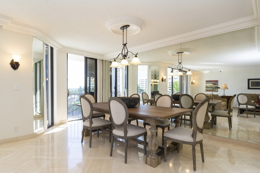 Real Estate Photography - 1401 S Ocean Blvd, #403, Boca Raton, FL, 33432 - Dining Room