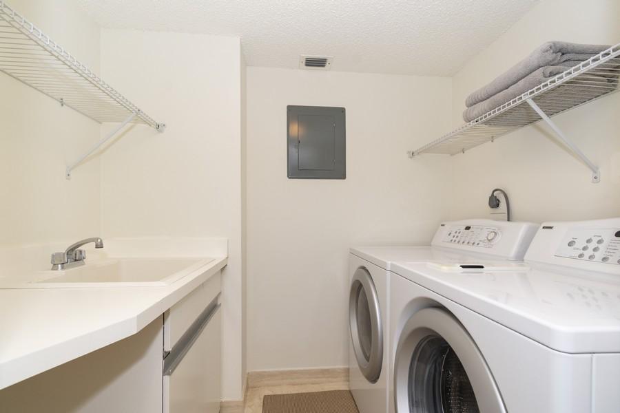 Real Estate Photography - 1401 S Ocean Blvd, #403, Boca Raton, FL, 33432 - Laundry Room