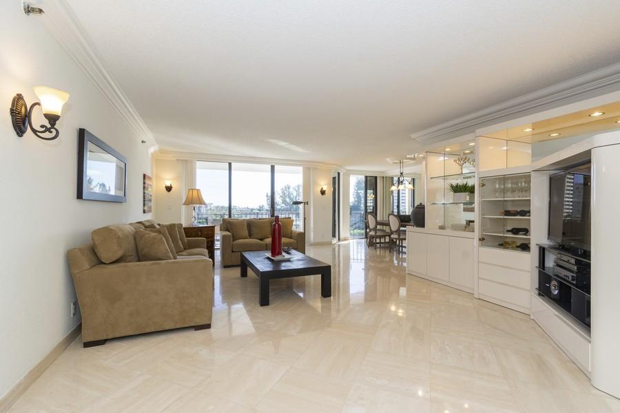 Real Estate Photography - 1401 S Ocean Blvd, #403, Boca Raton, FL, 33432 - Living Room / Dining Room