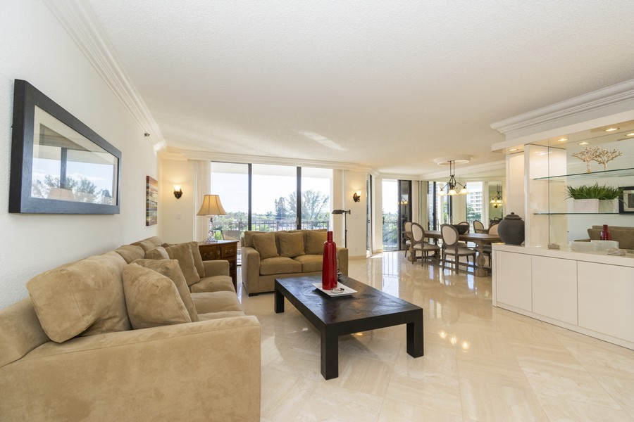 Real Estate Photography - 1401 S Ocean Blvd, #403, Boca Raton, FL, 33432 - Living Room/Dining Room