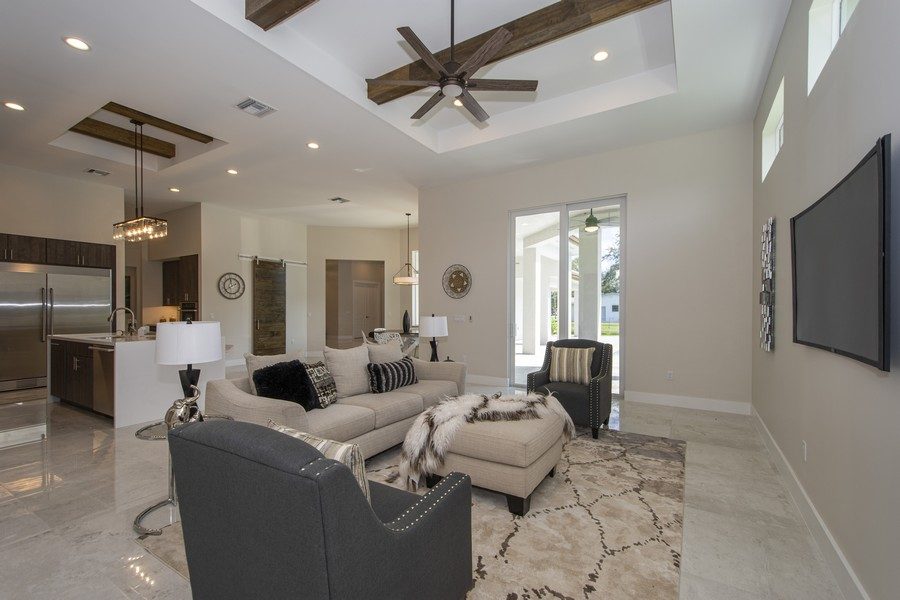 Real Estate Photography - 12100 NW 27th Street, Plantation, FL, 33323 - Family Room
