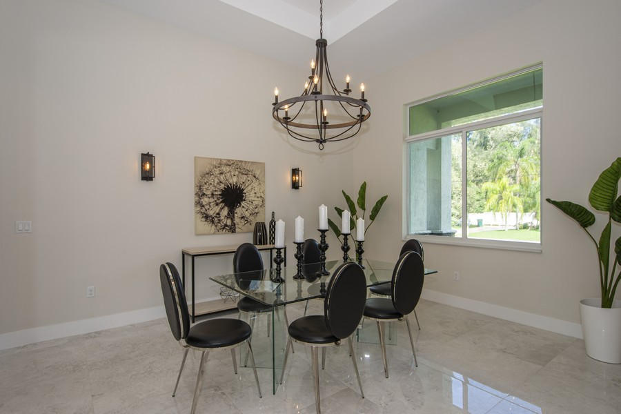 Real Estate Photography - 12100 NW 27th Street, Plantation, FL, 33323 - Dining Room