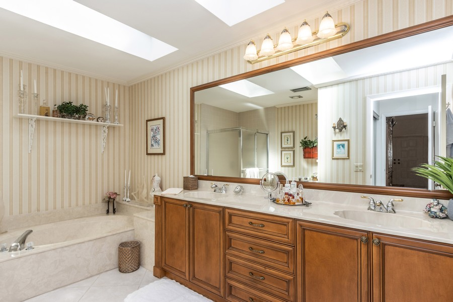 Real Estate Photography - 11150 Clover Leaf Cir, Boca Raton, FL, 33428 - Master Bathroom