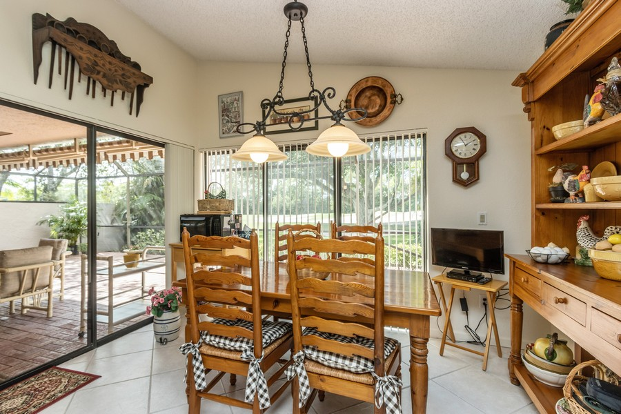 Real Estate Photography - 11150 Clover Leaf Cir, Boca Raton, FL, 33428 - Breakfast Area