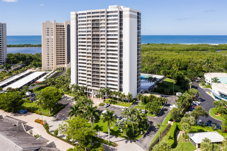 Real Estate Photography - 5601 Turtle Bay Dr, Unit 2004, Naples, FL, 34108 - Aerial View