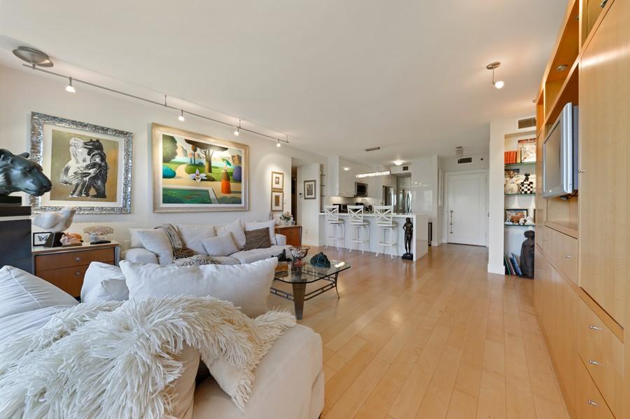 Real Estate Photography - 701 E. Camino Real, #3-C, Boca Raton, FL, 33432 - Kitchen / Living Room