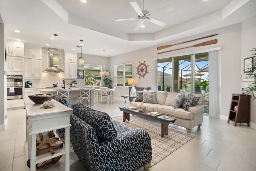 Real Estate Photography - 4123 Midnight Blue Run, Bradenton, FL, 34211 - Living Room
