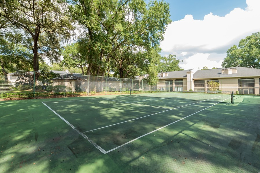 Real Estate Photography - 1055 Kensington Park Dr, Unit 803, Altamonte Springs, FL, 32714 - One of two tennis courts