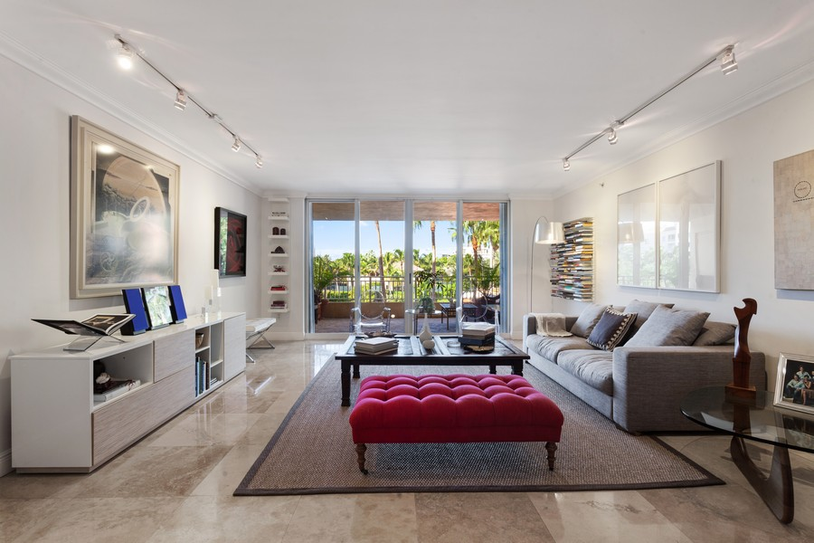 Real Estate Photography - 765 Crandon Blvd, 203, Key Biscayne, FL, 33149 - Living Room