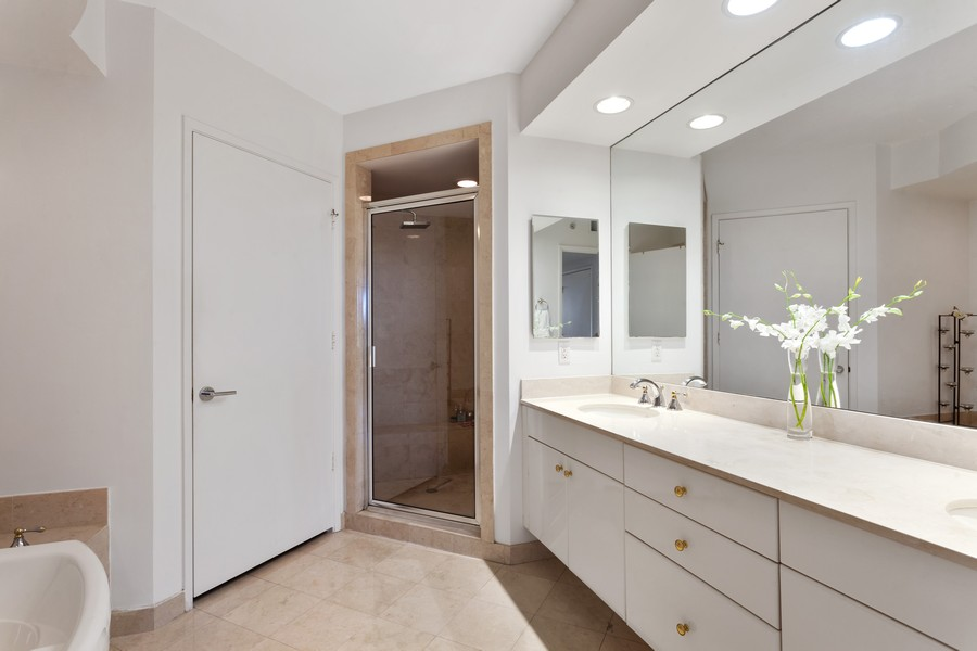 Real Estate Photography - 765 Crandon Blvd, 203, Key Biscayne, FL, 33149 - Master Bathroom