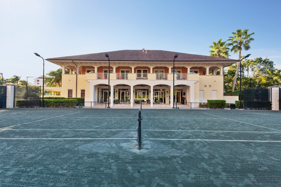 Real Estate Photography - 765 Crandon Blvd, 203, Key Biscayne, FL, 33149 - Tennis Court
