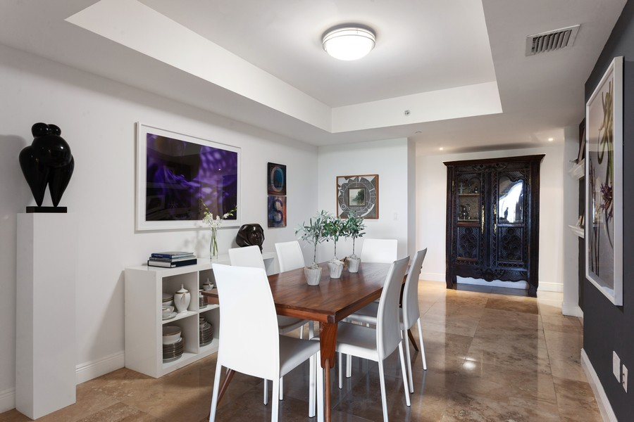 Real Estate Photography - 765 Crandon Blvd, 203, Key Biscayne, FL, 33149 - Dining Room