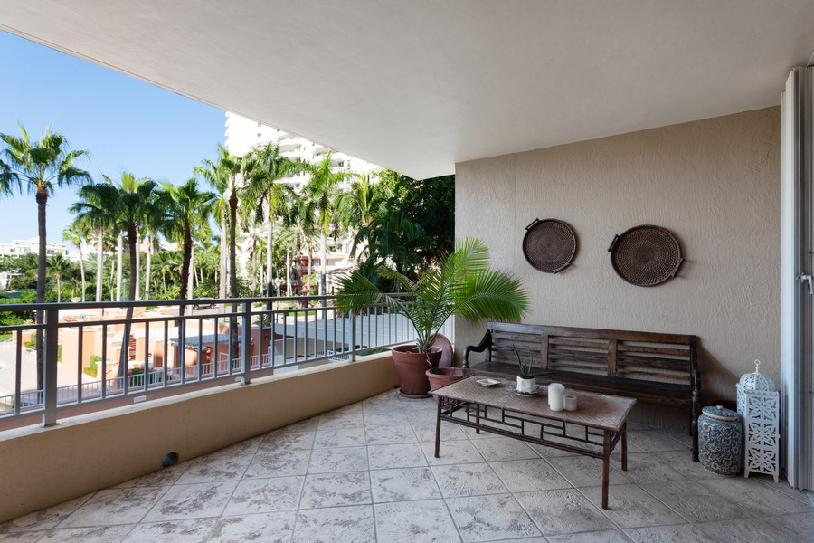 Real Estate Photography - 765 Crandon Blvd, 203, Key Biscayne, FL, 33149 - Balcony