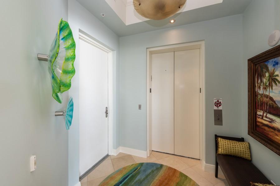 Real Estate Photography - 85 Avenue de la mer, 1106, Palm Coast, FL, 32137 - Private elevator vestible