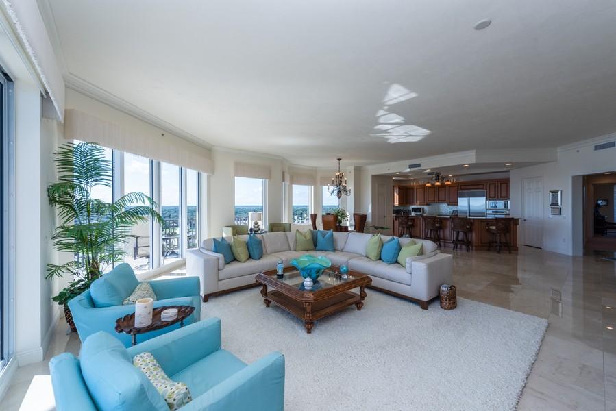 Real Estate Photography - 85 Avenue de la mer, 1106, Palm Coast, FL, 32137 - Living area