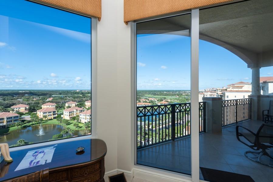 Real Estate Photography - 85 Avenue de la mer, 1106, Palm Coast, FL, 32137 - West Balcony views