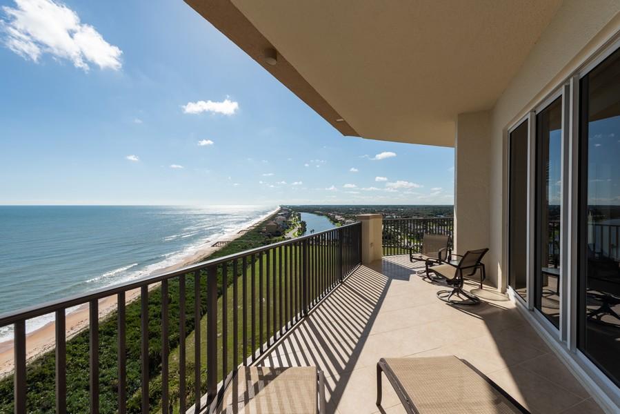 Real Estate Photography - 85 Avenue de la mer, 1106, Palm Coast, FL, 32137 - Ocean Balcony View