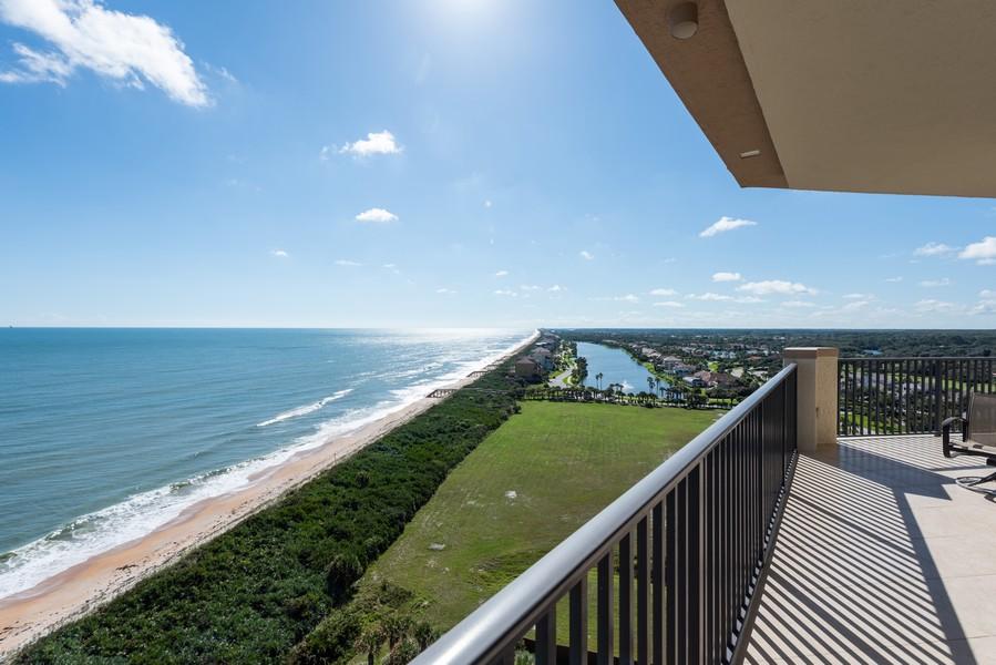 Real Estate Photography - 85 Avenue de la mer, 1106, Palm Coast, FL, 32137 - East Balcony for Florida Sunrise