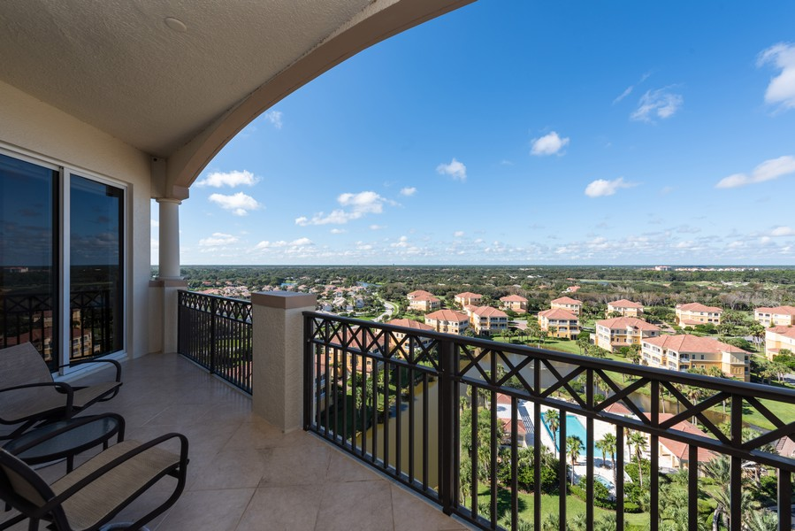 Real Estate Photography - 85 Avenue de la mer, 1106, Palm Coast, FL, 32137 - West Balcony For Florida Sunsets