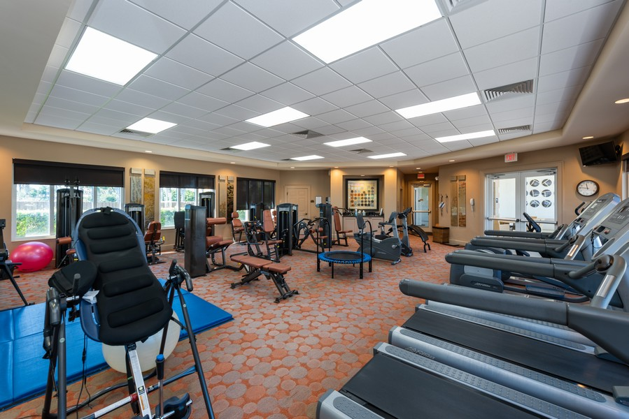 Real Estate Photography - 85 Avenue de la mer, 1106, Palm Coast, FL, 32137 - Tuscany Exercise Room
