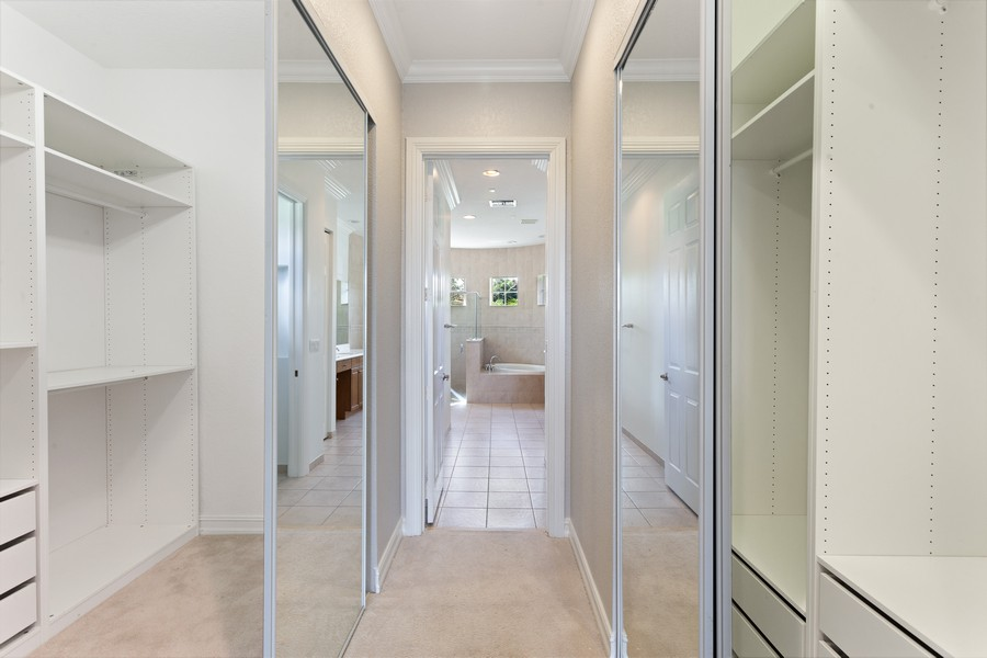 Real Estate Photography - 12191 NW 73 STREET, PARKLAND, FL, 33076 - Master Bedroom Closet