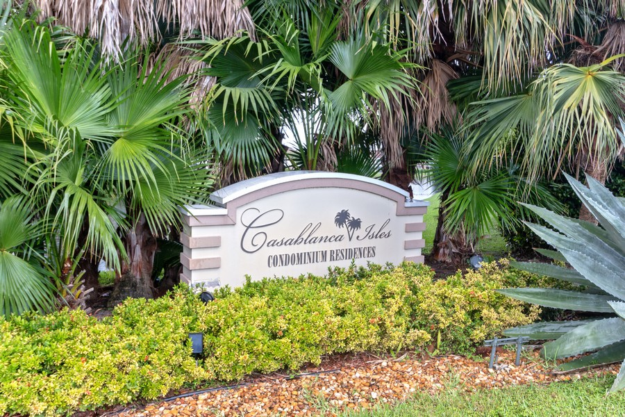 Real Estate Photography - 815 W Boynton Beach Boulevard, 13-201, Boynton Beach, FL, 33426 - Casablanca Isles Entrance