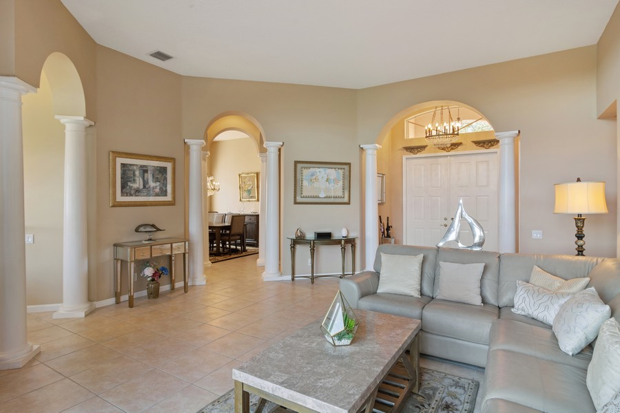 Real Estate Photography - 216 NW Liseron Way, Port St Lucie, FL, 34986 - Living Room