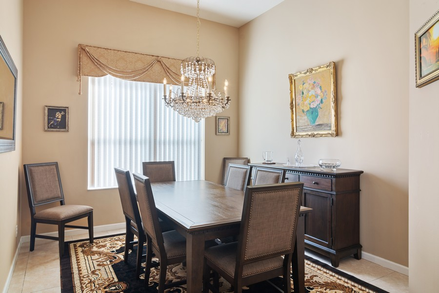 Real Estate Photography - 216 NW Liseron Way, Port St Lucie, FL, 34986 - Dining Room