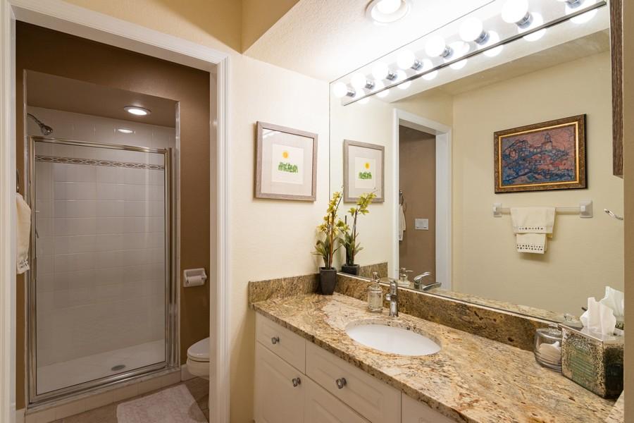 Real Estate Photography - 3905 Mariner's Walk, 815, Cortez, FL, 34215 - 2nd Bathroom