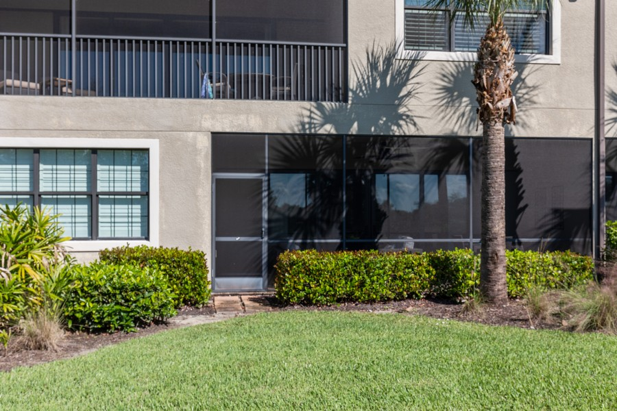 Real Estate Photography - 8756 Bellano Ct, Unit 103, Naples, FL, 34119 - Rear View