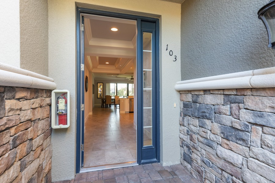 Real Estate Photography - 8756 Bellano Ct, Unit 103, Naples, FL, 34119 - Entryway