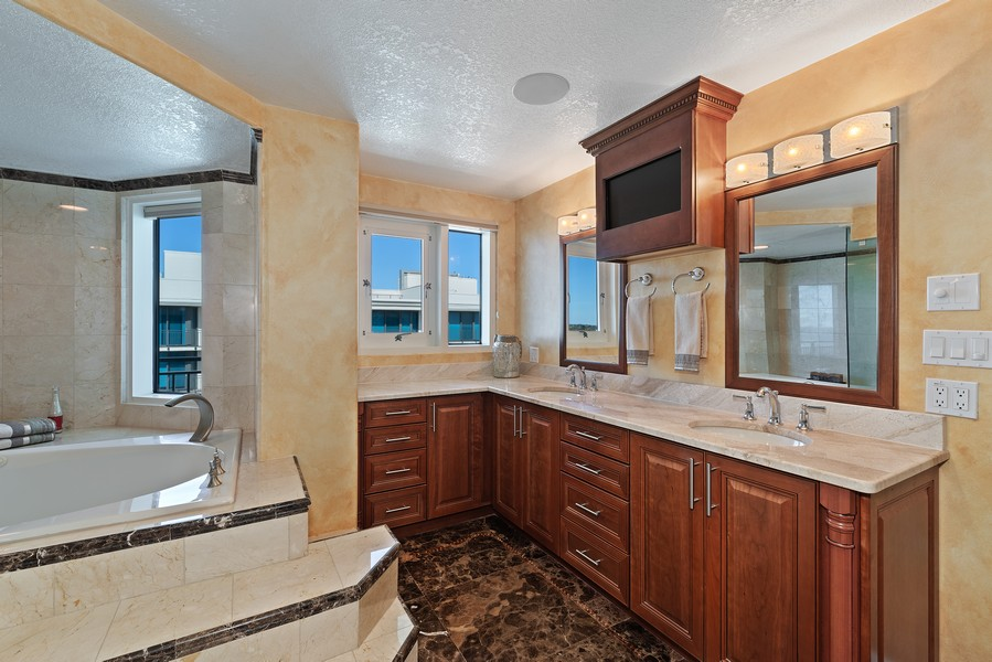 Real Estate Photography - 1323 Highway A1A, 601, Satellite Beach, FL, 32937 - Master Bathroom