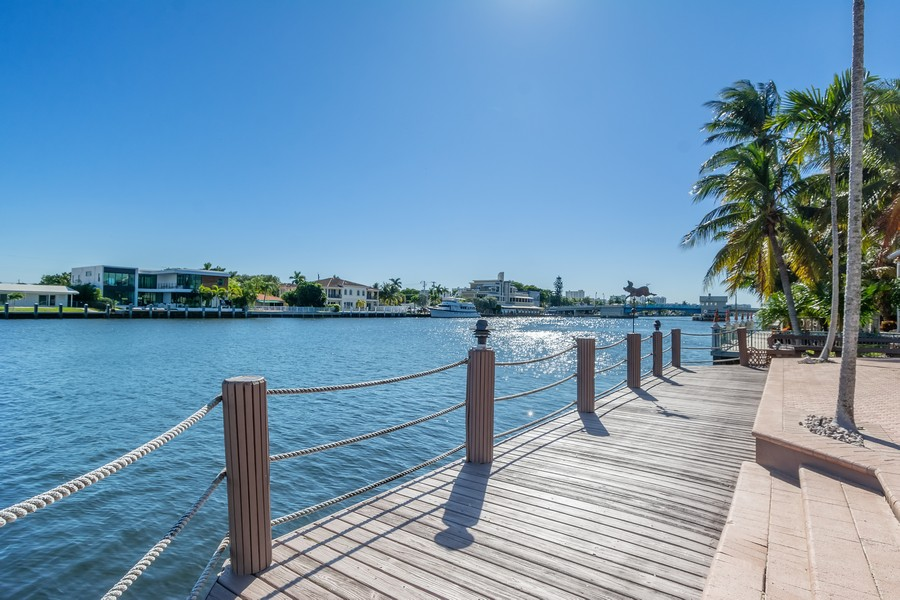 Real Estate Photography - 5210 NE 33rd Ave, Ft Lauderdale, FL, 33308 - Patio - Dock