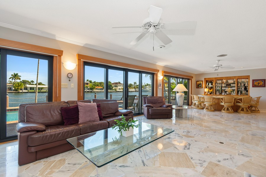 Real Estate Photography - 5210 NE 33rd Ave, Ft Lauderdale, FL, 33308 - Family Room